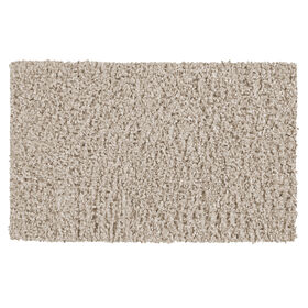 Picture of Cream Shiny Fur Shag Accent Rug 20 X 34-in