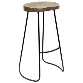 Picture of Gavin Vintage French Gray Barstool, 30-in.