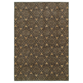 Picture of Medallion Area Rug- Green 7x10-ft