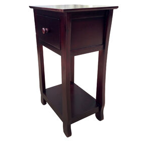 Picture of Thick Leg Brown Table with 1-Drawer- 26-in