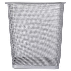 Picture of MTL MESH SQ WASTE CAN-SILV