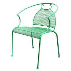 Picture of Mesh Wrought Iron Stack able Chair- Mint Green