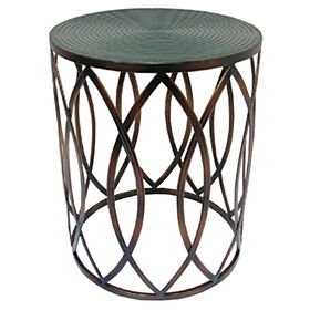 Picture of Metal Glam Drum Table 17x20-in