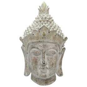 Picture of 25IN WALL BUDDHA HEAD GRNGLD