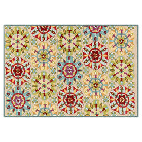 Picture of A49 Juli Ivory Suzani Rug