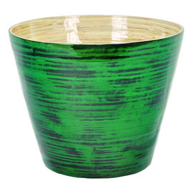 Picture of Green Bamboo Decor Bowl 8.3 in.