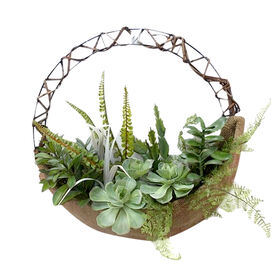 Picture of Succulent and Twig Wire Wreath- 16 in.