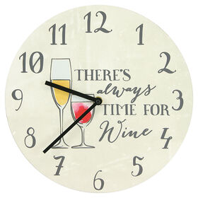 Picture of AC 12X12 MDF CLOCK WINE TIME