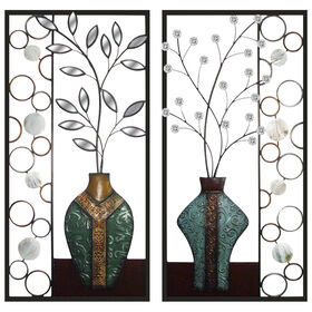Picture of 32 X 16-in Floral Vases with Mirror