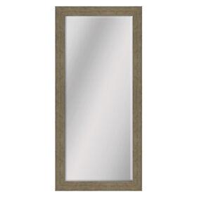 Picture of 24 X 58-in Wood Grain Oak Beveled Mirror