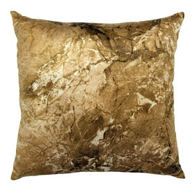 Gold Keystone Marble Decorative Pillow- 18-in