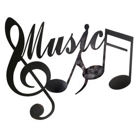 Picture of 24 X 19-in Music Notes Wall Décor