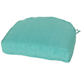 Picture of Teal Peacock Curved Back Seat Cushion