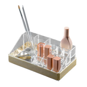 Picture of 16-compartment Cosmetic Organizer, Gold