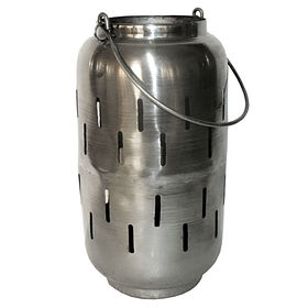 Picture of Nickle Finish Lantern - 11.25 in