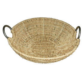 Picture of Seagrass Tray with Metal Handle 15.7-in