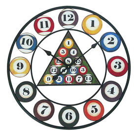Picture of 24-in Pool Ball Billiard Clock