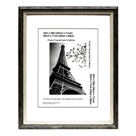 Picture of 22 X 28-in Gray & White Janice Poster Picture Frame