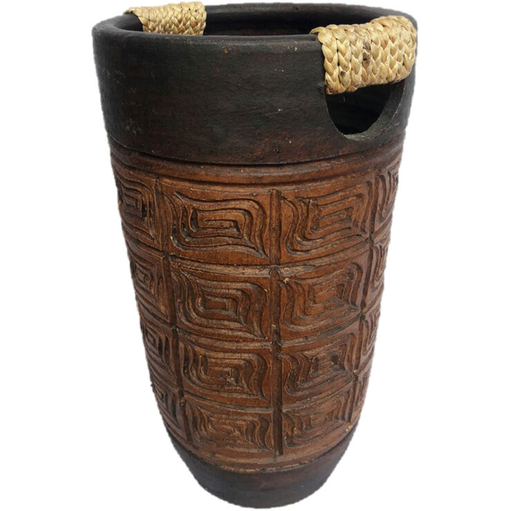High-Shaped Planter with Handle- 8-in