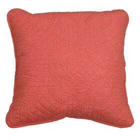 Picture of Coral Quilted Pillow - 18in