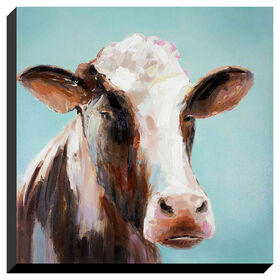 Picture of Hand Painted Pasture Pose Canvas Art- 32x32 in.