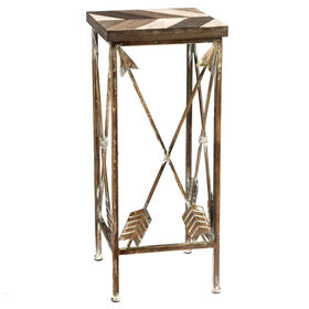 Picture of Nested Metal Arrow Plantstand Side Table- 25-in.