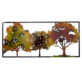 Picture of 37 X 17-in Copper and Red Trees