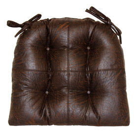 Picture of Faux Leather Brown Chair Pad