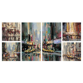 Picture of City Impression 6-Piece Gallery Art- 47x24 in.