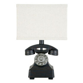 Picture of Black Telephone Lamp Base - 12 in. (shade sold separately)