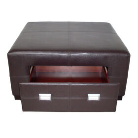 Picture of HK Davis Storage Ottoman - Brown