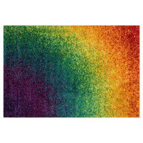 Picture of A174 Shag Rainbow Rug- 5x7 ft