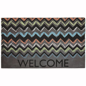 Picture of Chalky Chevron Doormat 18 X 30-in