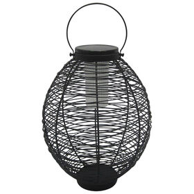 Picture of Metal Wire Oval Solar Lantern - 11 in