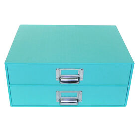 Picture of 2 DRAWER FLAT FILE-BLUE