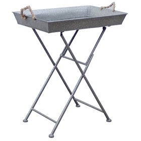 Picture of Silver Steel Folding Tray Table