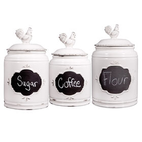 Picture of Ivory Rooster Canister 3 Set