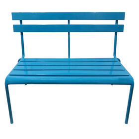 Picture of Metal Slat Bench Turqoise