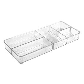 Picture of 7 X 16 X 2-in Rain 5-Compartment Bath Tray, Clear