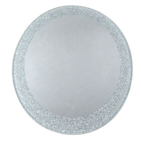 Picture of 6IN RND MIRROR SILVER GLTTR