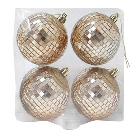 Picture of Mirror Ball Ornaments Gold- Set of 4