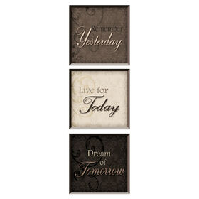 Picture of 6 X 6-in Inspirational Quotes- 3 Piece