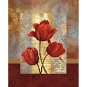 Picture of 24 X 36-in Border Red Tulips Studio Art