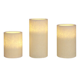 Picture of 3PC COMPRESSED CANDLE SET