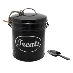 Picture of Black Treat Tin with Scoop