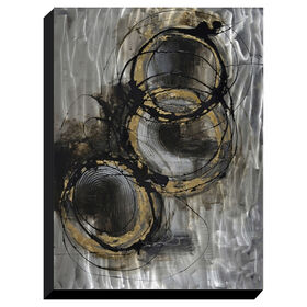 Picture of Concentric Hand Painted Metal Canvas Art- 30x40 in.