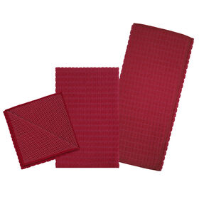 Picture of Red Cleaning Dish Towel Set - 3 Piece