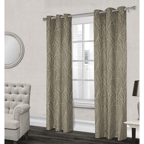 Picture of Finesse Textured Grommet Curtain Panel- Natural 84-in