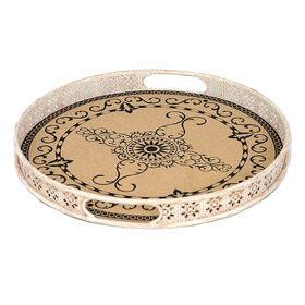Picture of Round Metal Tray with Cork 15.7-in