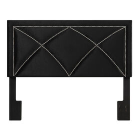 Picture of Uptown Studded Headboard- Queen Size Black Velvet